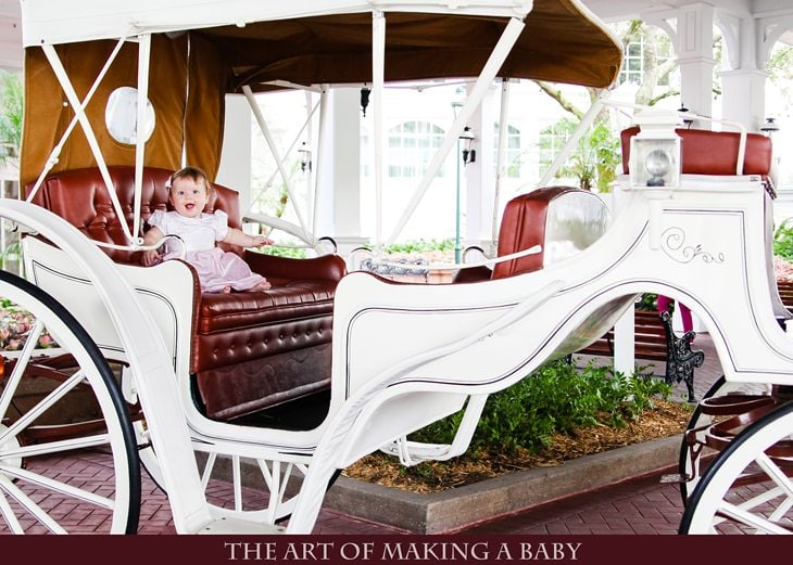 Garden Tea Party At Disney World With An Infant